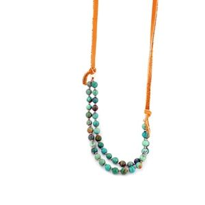 Lily Lambert Festival Turquoise Leather Necklace